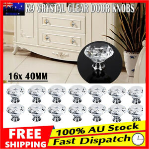 16x-40MM-K9-Crystal-Cabinet-Cupboard-Drawer-Door-Pulls-Knobs-Handle-Brand-New