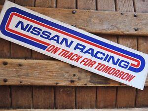 NISSAN-RACING-BUMPER-STICKER-INDY-IMSA-NASCAR-NHRA-USAC-DIRT-SCCA-SVRA-KART