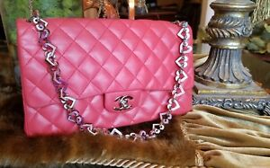 f01ce256c9da Image is loading Rare-Chanel-Limited-Edition-Vintage-Valentine-Red-Flap-