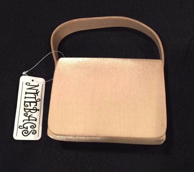 Nitebags Champagne Satin Evening Bag - New with tags