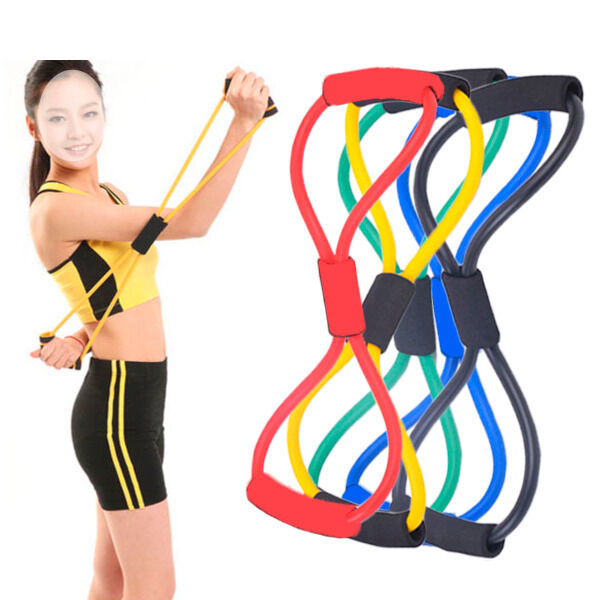 Elastic Resistance Band Muscle Workout Bands Body Fitness Equipment For Yoga