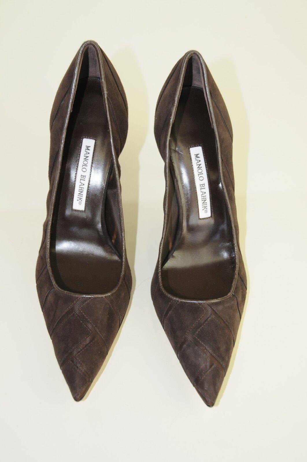 l'intera rete più bassa    895 New Manolo Blahnik BB Chocolate Marrone Suede Pumps Heels scarpe 40 41 41.5  i nuovi stili più caldi