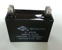 2pcs Fan Metallized Capacitor Ac 450v 50/60hz 6uf