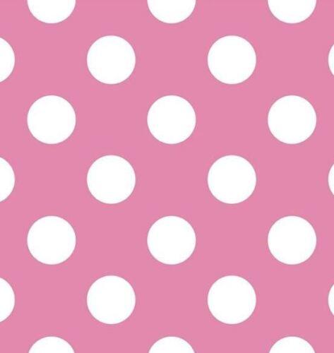 Parato pois rosa fuxia e bianco in carta lavabile e resistente design allegro e