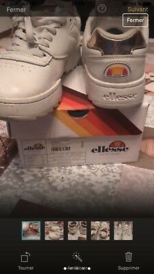 Baskets Ellesse Plativo Traîner Pointure 38 Whiterose Gold