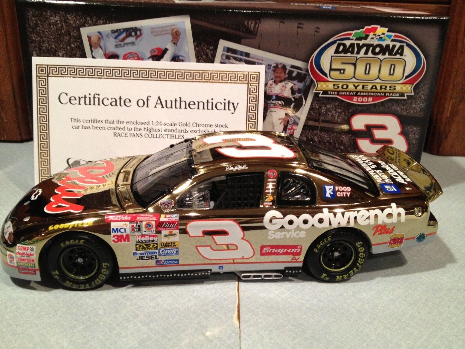 Action 1998 Dale Earnhardt GM Daytona 500 Win 1 24 gold Chrome