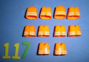 PLAYMOBIL-LOTE-117-CHALECOS-REFLECTANTES-Organismes-Playmobil-pieces