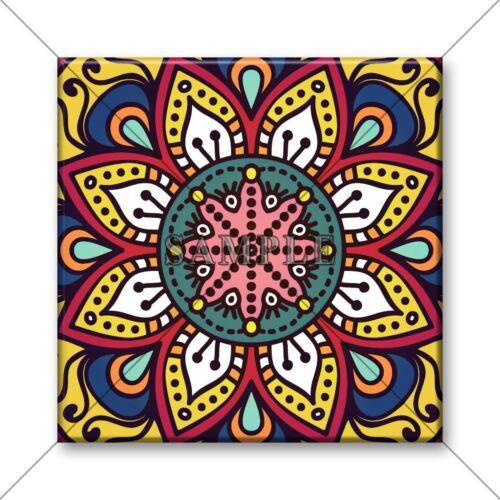 Ceramic Tile Vintage Moroccan Design Bright Colors Kitchen Tile Bathroom #35
