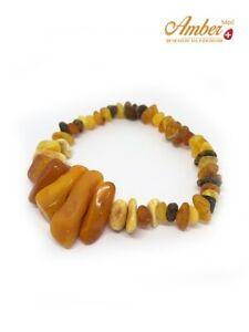 Bracciale-d-039-ambra-vera-baltica-034-Cinque-034-Ambra-naturale