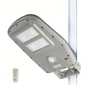 Details About Solar Street Lights Commercial Outdoor Waterproof Motion Sensor Post 10w 1000lm