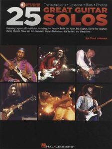 25 Great Solos De Guitare Tab Music Livre Audio/chad Johnson Slash Angus Young-afficher Le Titre D'origine RéSistance Au Froissement