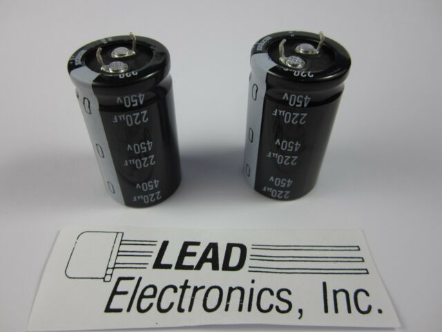 450V Nichicon LGU 105C Electrolytic Capacitor 25mm x 40mm 180uF
