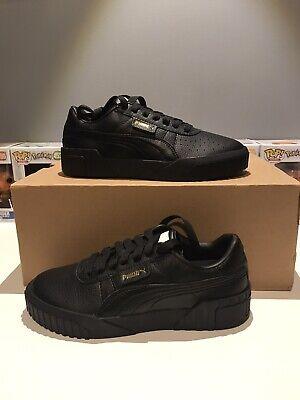 Puma Cali Triple Black/Gold Leather