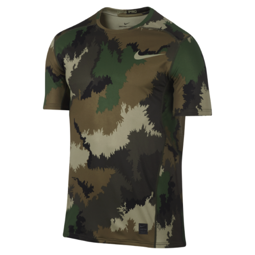 a4d431c4 Nike Men's Pro Hypercool Fitted Camo Training Shirt-camo Green S for ...