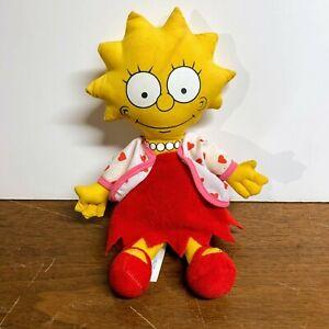 """Vintage 1990 Simpsons Plush Lisa Simpson Doll 10"""""""