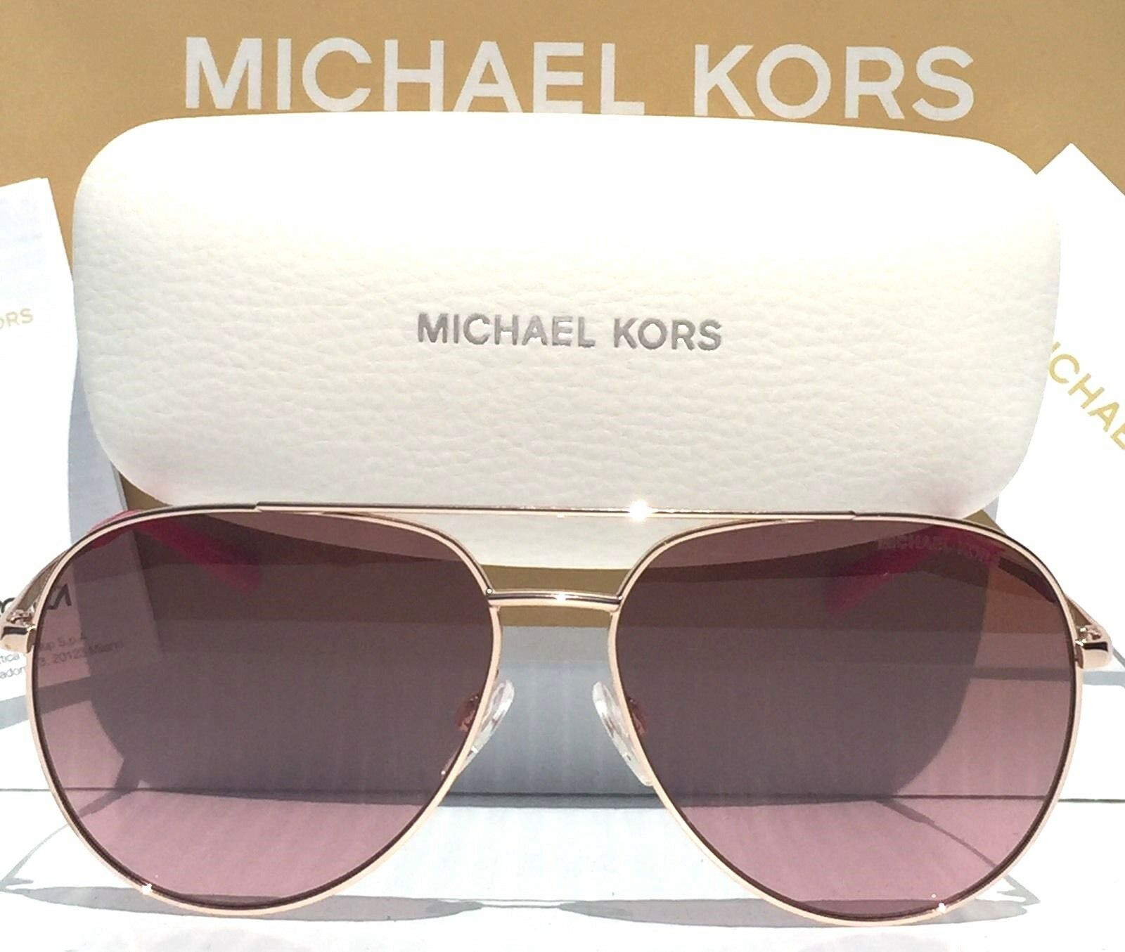 db9f17f1cb95 Michael Kors Sunglasses M 2066 S Dylan 717 Gold 58 Mm for sale online | eBay