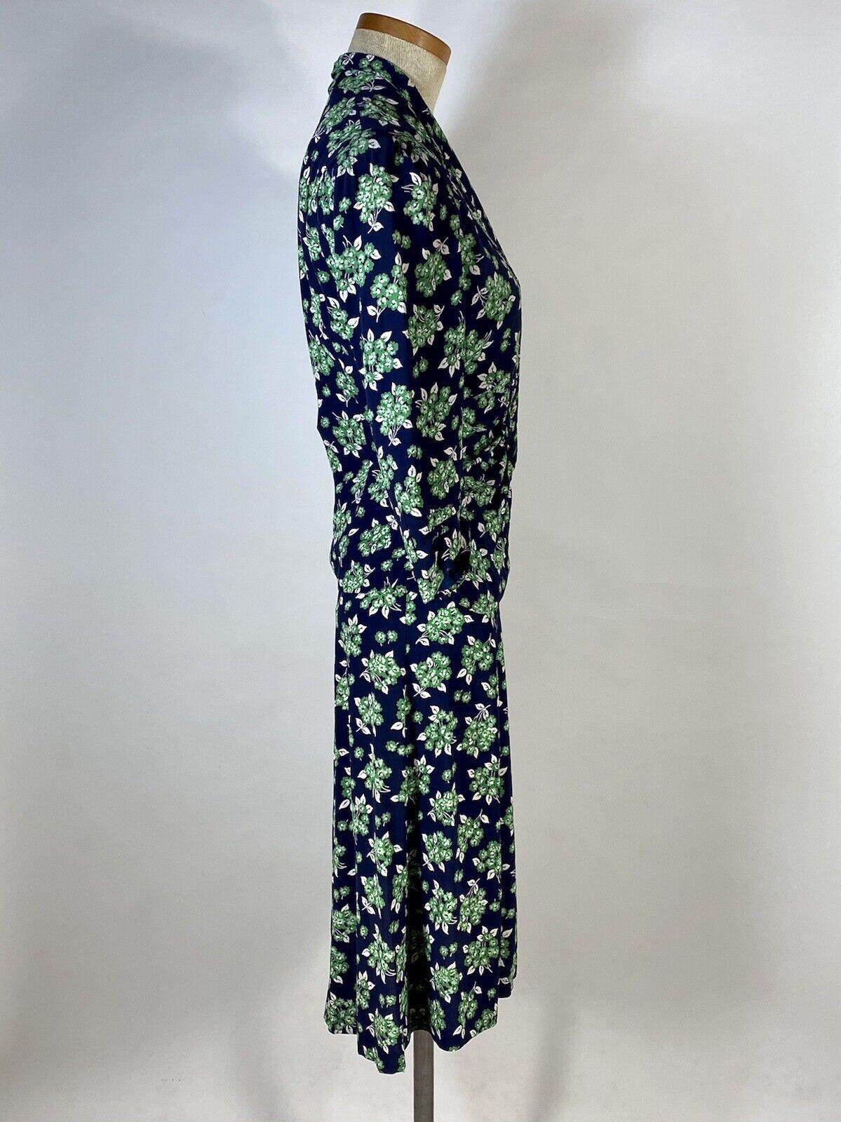 Vintage early 1940's floral silk crepe 2-pc. skir… - image 7