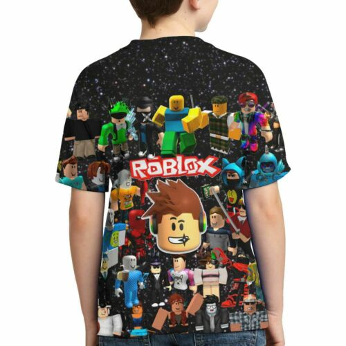 Roblox Characters Face Galaxy Kids Favorite Game Youth Short Sleeve T-Shirt Tops