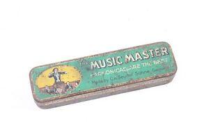 Ancienne-Boite-de-Conserve-Original-Collector-Boite-Harmonica-Music-Master