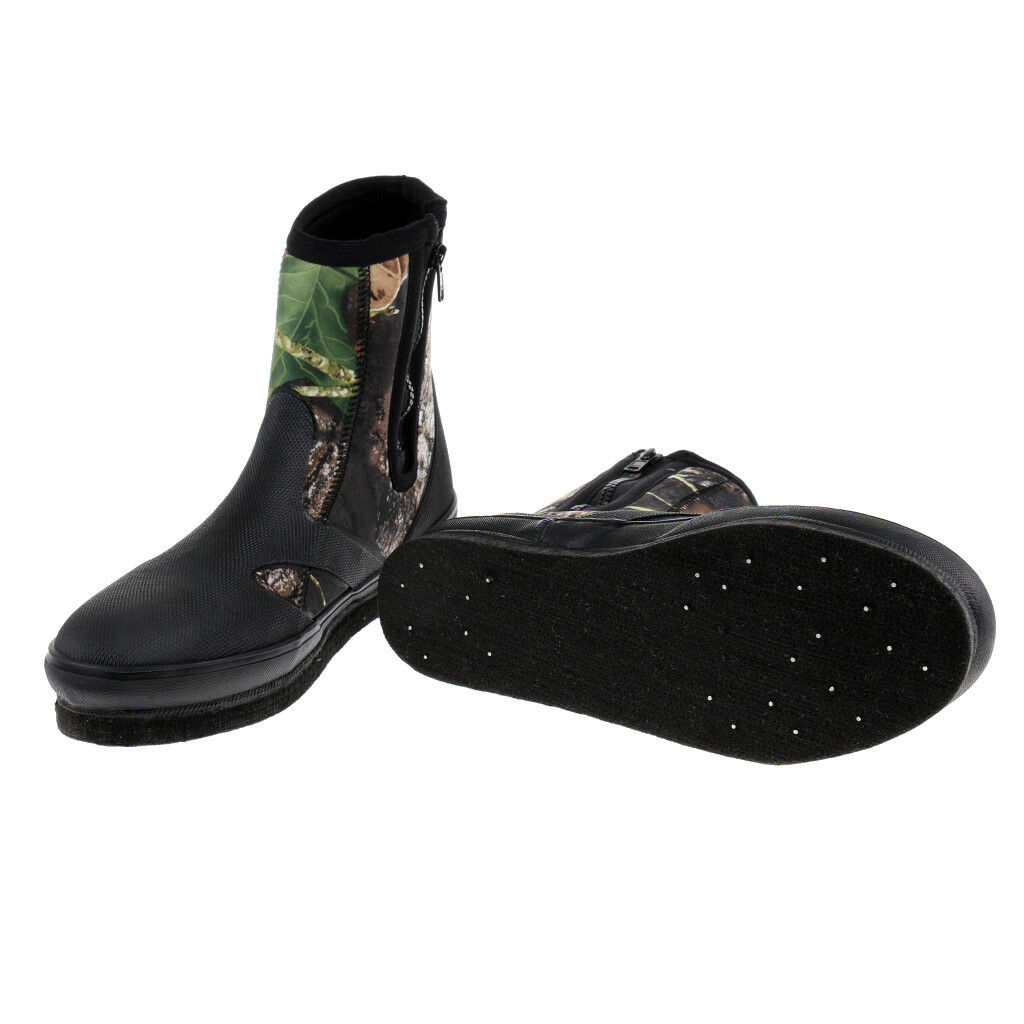 Fishing Boots shoes Anti-Slip with Nails Spikes Camouflage US Size 8 9 10