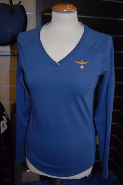 T-Shirt Donna Aeronautica Militare Blu Taglia S NUOVA - Blue Woman Shirt Size S