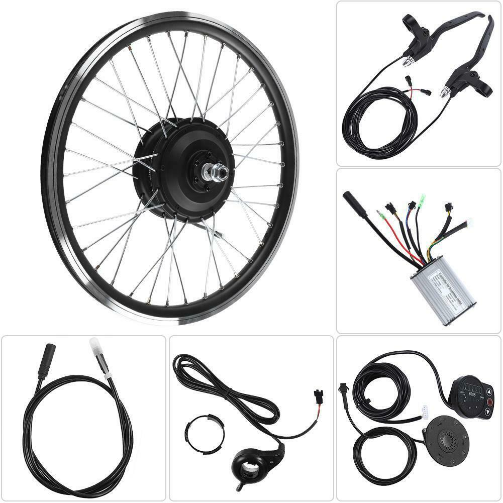 "36V 48V 350W Motor LED Display 20"" Front Rear Wheel E-bike Conversion Refit Kit"