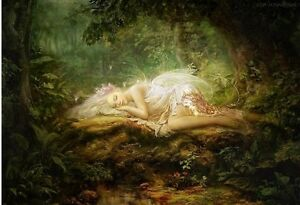 Jigsaw-Puzzles-1000-Pieces-034-Forest-Fairy-Lying-034-Fantasy