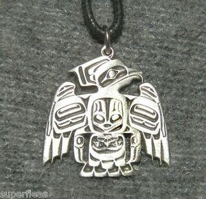 British columbia salish designer thunderbird necklace for Vancouver island jewelry designers