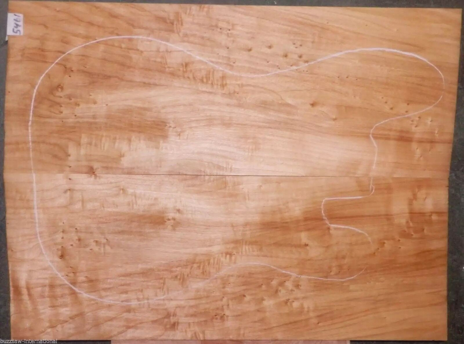 Flame Tiger Poplar Wood  5461 Luthier Exotic 5A Guitar Top set 22 1 2 x 16 x 1 2