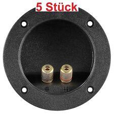 Lautsprecher Terminal 2fach 2x Leiste rund für z.B. Boxen Bassbox oder Bassröhre
