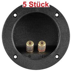 Lautsprecher-Terminal-2fach-2x-Leiste-rund-fuer-z-B-Boxen-Bassbox-oder-Bassroehre
