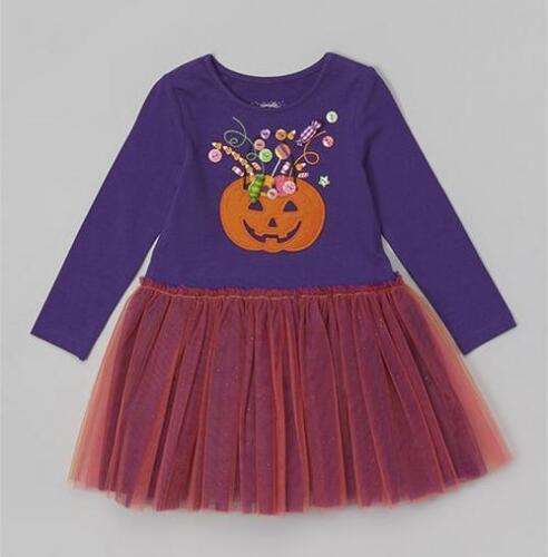 Marmellata PURPLE /& PINK PUMPKIN HALLOWEEN TUTU DRESS 2T Free Shipping KuuKid