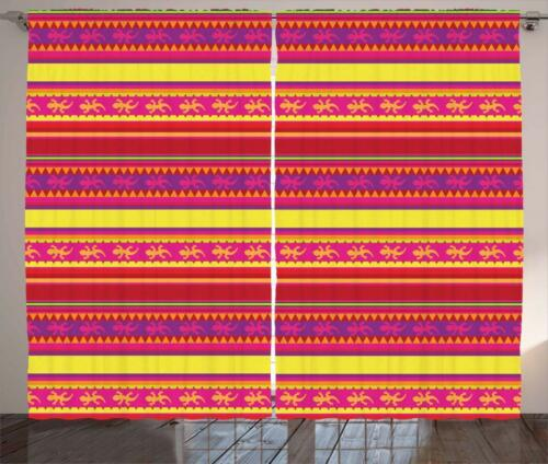 Mexican Curtains 2 Panel Set Decor 5 Sizes Available Window Drapes