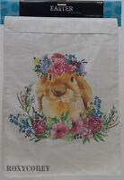 Easter Bunny White Floral Design Table Runner 13x72 In