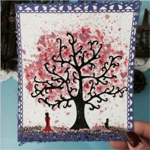 Stanzschablone-Baum-Strunk-Hochzeit-Geburtstag-Oster-Weihnachten-Karte-Album-DIY