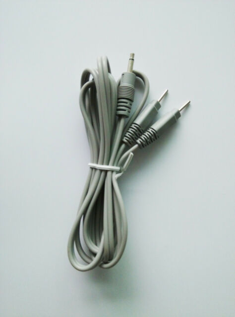 Replacement Electrode Lead Wires Cables 3.5mm DC Head 2.0mm Plug in TENS 1.5M