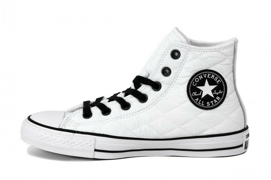 Converse All Star Hi Hi Star Quilted Bianche imbottite  White LIMITED EDITION b5ea06