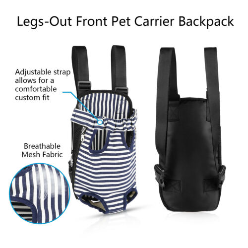 Mesh Pet Puppy Dog Cat Backpack Carrier Head Legs Out Front Net Bag Tote Sling