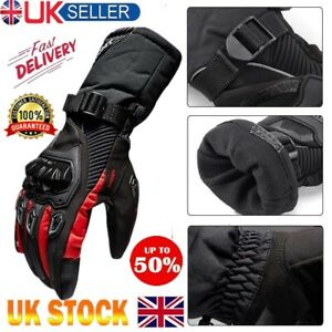 Leather-Motorcycle-Gloves-Motorbike-Waterproof-Thermal-Biker-Windproof-Winter-UK