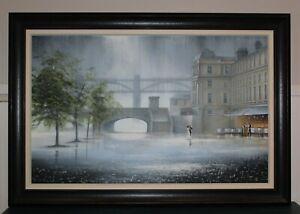Jeff Rowland Framed Original Oil On Canvas.  LARGE. Original Painting.