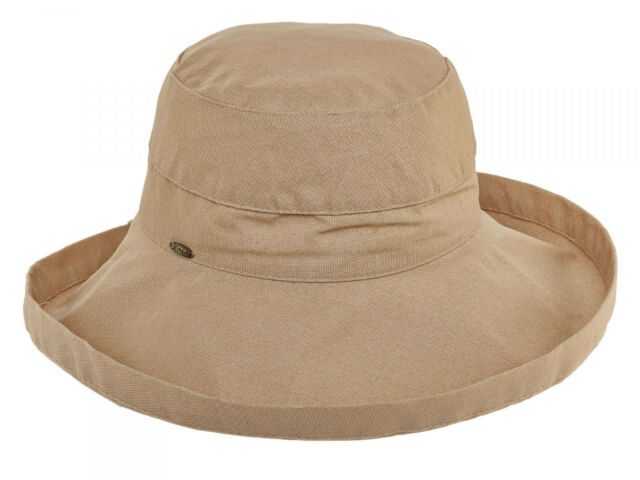 388ebbd4 Scala Womens Cotton 4 Inch Brim UPF 50 Travel Sun Hat Desert for ...