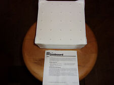 """LOT OF 8 PLASTIC IDEAL SCHOOL SUPPLY CO. GEOBOARDS 7.5"""" SQUARE 5 x 5 PEG PATTERN"""