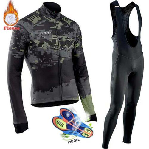 Cyclisme Vêtements Hommes 2019 Pro Team NW hiver thermiques en polaire Northwave Jersey Costume