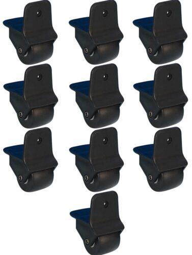 10x 50 mm Trolley-Rollen Kantenrollen Kofferrollen Anbaurollen Bockrollen Trolli