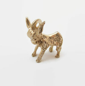 Donkey-Mule-Burro-Solid-Sterling-Silver-Bracelet-Charm-Democrat