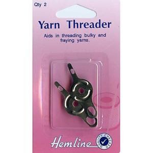 Hemline H235 Metal Long Eye Needle Threaders 2pk for Tapestry//Crewel Needles