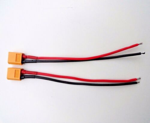 2pcs XT-60 XT60 Female Connector Plug 15cm 14AWG Silicon Wire RC Lipo Battery