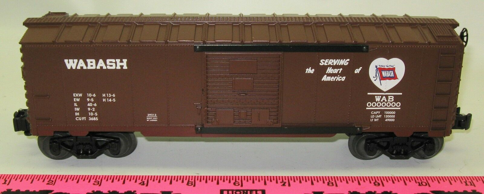 Lionel New 6-39213 Wabash boxcar