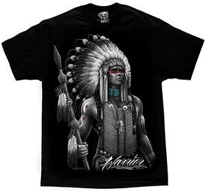 Warrior-Native-American-Indian-Chief-Tribal-Apache-T-Shirt-DGA-David-Gonzales