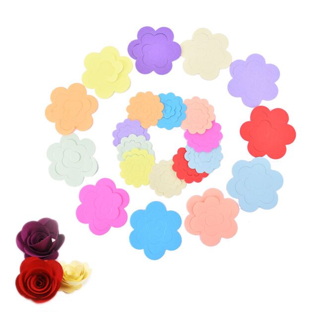 11 Colors Paper Quilling Flowers Rose Paper Handmade Material Accessories DIY .